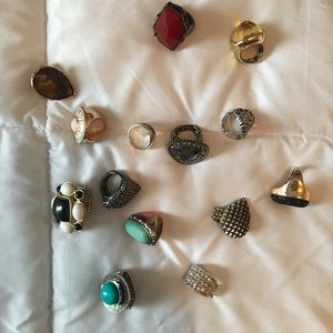 Lot of adjustable and sizes 8-9 rings